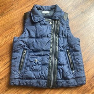 Tractr quilted vest size L girls